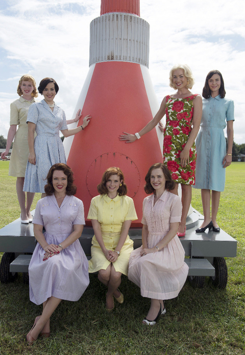 "THE ASTRONAUTS WIVES CLUB -  ABC's ""The Astronaut Wives Club"" stars Zoe Boyle as Jo Schirra, Azure Parsons as Annie Glenn, Erin Cummings as Marge Slayton, JoAnna Garcia Swisher as Betty Grissom, Dominique McElligott as Louise Shepard, Yvonne Strahovski as Rene Carpenter and Odette Annable as Trudy Cooper. (ABC/Cook Allender)"