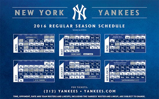 ScheduleYankees